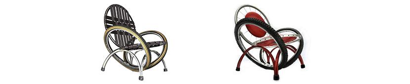 О-оригинальность. Такие стулья запомнятся надолго вашим клиентам велолюбителям. Стулья АКЛАС