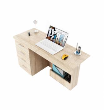 Стол компьютерный Comfy-Home Caliban 62(110)x50 Белый (Белый) фото-1
