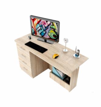 Стол компьютерный Comfy-Home Caliban 62(110)x50 Белый (Белый) фото-2