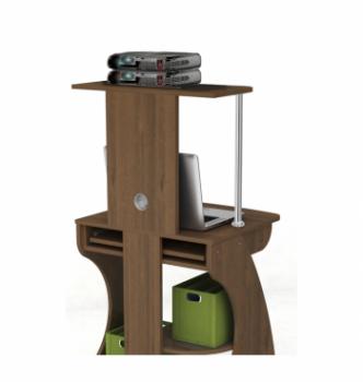 Стол для ноутбука Comfy-Home Davos-2 60x53 Коричневый (Орех лесной) фото-3