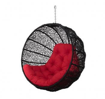 Кресло подвесное Украинские Конструкции Фиеста Черный (Черный Красная) фото-1