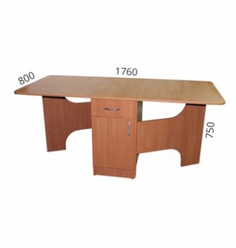 Стол книжка NIKA Мебель КМС-1 43(176)x80 Коричневый (Орех Лесной) фото-5