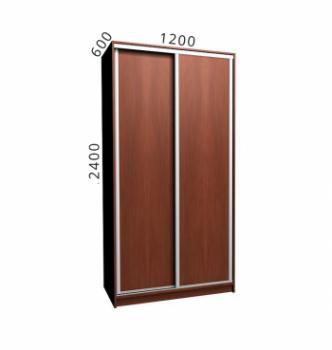 Шкаф купе NIKA Мебель Ника 11/6 120x60x240 Коричневый (Яблоня Локарно темная Яблоня Локарно темная Алюминий) фото-1