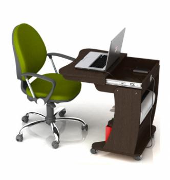 Стол для ноутбука Comfy-Home Kombi 65x45 Коричневый (Яблоня) фото-2