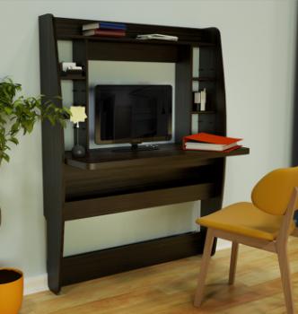 Стол навесной Comfy-Home AirTable BIG 110x49 Коричневый (Венге магия) фото-2