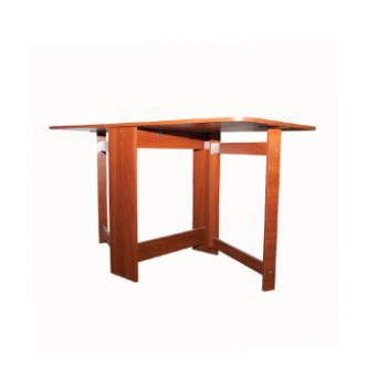 Стол книжка NIKA Мебель Ника 48/1 20(140)x60 Коричневый (Яблоня Локарно темная) фото-3