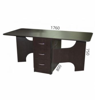Стол книжка NIKA Мебель КМС-5 43(176)x80 Черный (Дуб Венге) фото-5