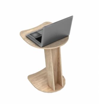 Столик для ноутбука Comfy-Home Sim 50x50 Коричневый (Орех лесной) фото-4