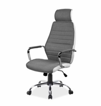 Кресло Signal Q-035 Белый (Белый PU/Серый) фото-1