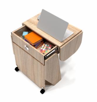 Стол для ноутбука Comfy-Home Kombi Z3 67(120)x48(63) Бежевый (Сонома) фото-4
