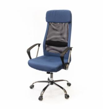 Кресло АКЛАС Гилмор FX СН TILT Синий (Синий/Черный) photo-0