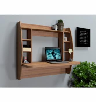 Стол навесной Comfy-Home AirTable-I LB 110x49 Коричневый (Орех лесной) фото-2