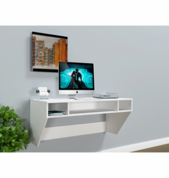 Стол навесной Comfy-Home AirTable-II WT Mini 110x52 Белый (Белый) фото-2