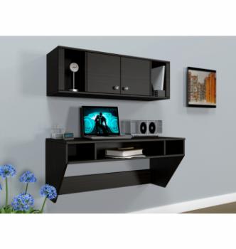 Стол навесной Comfy-Home AirTable-II Kit DB 110x52 Коричневый (Венге магия) фото-3