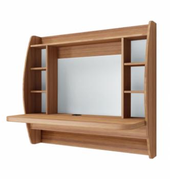 Стол навесной Comfy-Home AirTable-I LB 110x49 Коричневый (Орех лесной) фото-1