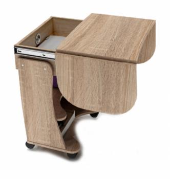 Стол для ноутбука Comfy-Home Kombi A3 67(120)x48(63) Коричневый (Орех лесной) фото-6