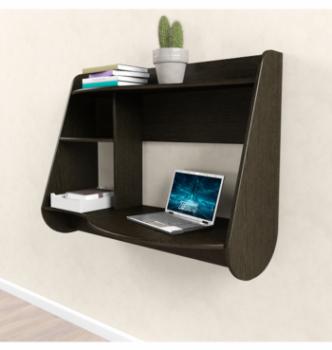 Стол навесной Comfy-Home AirTable Drop 100x50 Коричневый (Венге магия) фото-2