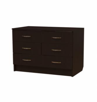 Комод NIKA Мебель К-20 80x44x60 Черный (Дуб Венге) фото-1