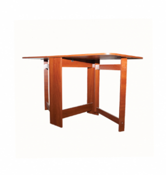 Стол книжка NIKA Мебель Ника 48/3 20(160)x80 Коричневый (Яблоня Локарно темная) фото-3