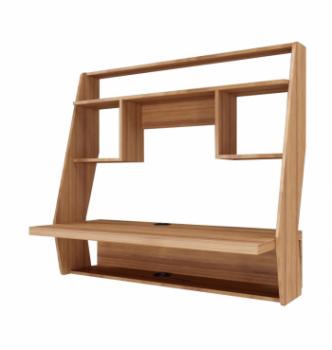 Стол навесной Comfy-Home AirTable-IІІ LB 100x50 Коричневый (Орех лесной) фото-1