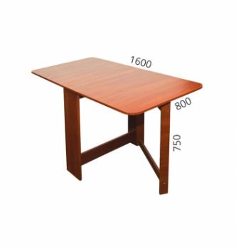 Стол книжка NIKA Мебель Ника 48/3 20(160)x80 Коричневый (Яблоня Локарно темная) фото-5