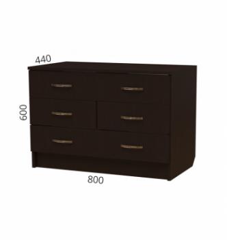 Комод NIKA Мебель К-20 80x44x60 Черный (Дуб Венге) фото-2