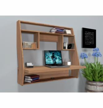 Стол навесной Comfy-Home AirTable-IІІ LB 100x50 Коричневый (Орех лесной) фото-2