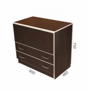 Стол книжка NIKA Мебель КМС-3 48(140)x80 Черный (Дуб Венге) фото-4