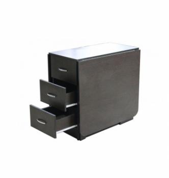 Стол книжка NIKA Мебель КМС-2 43(176)x80 Черный (Дуб Венге) фото-3