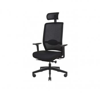 Кресло Kreslalux VERIS NET Черный (Чёрный Black) фото-1