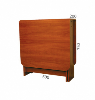 Стол книжка NIKA Мебель Ника 48/1 20(140)x60 Коричневый (Яблоня Локарно темная) фото-4