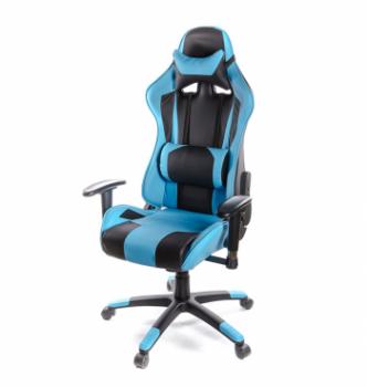 Кресло геймерское АКЛАС Хорнет PL RL Черный (PU-черный/голубой) photo-0