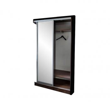 Прихожая NIKA Мебель н/с 120x45x220 Коричневый (Дуб Шамони темный Зеркало) фото-2