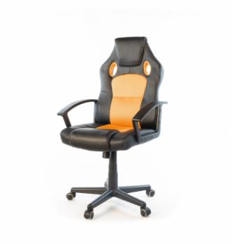 Кресло геймерское АКЛАС Анхель NEW PL TILT Черный (Черный/Оранжевый) photo-0