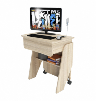 Стол для ноутбука Comfy-Home Kombi Z2 65x45 Бежевый (Сонома) фото-1