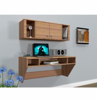 Стол навесной Comfy-Home AirTable-II Kit LB 110x52 Коричневый (Орех лесной) фото-3