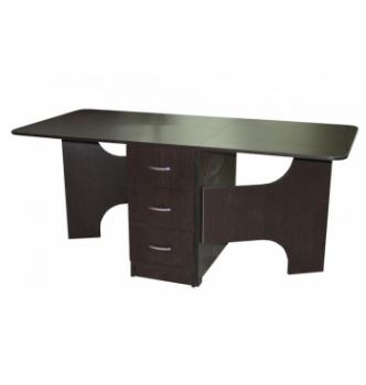 Стол книжка NIKA Мебель КМС-5 43(176)x80 Черный (Дуб Венге) фото-2