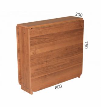 Стол книжка NIKA Мебель КМС-4 20(156)x80 Коричневый (Вишня Оксфорд) фото-4