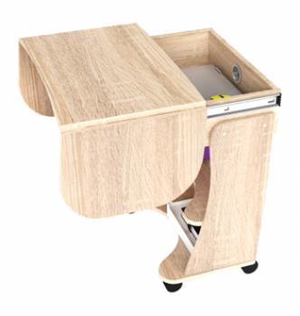 Стол для ноутбука Comfy-Home Kombi A3 67(120)x48(63) Коричневый (Орех лесной) фото-2
