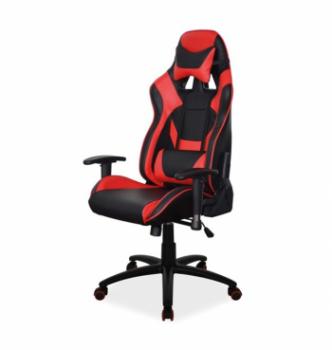 Кресло геймерское Signal Supra Черный (PU Черный/Красный) фото-1