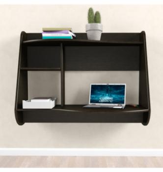 Стол навесной Comfy-Home AirTable Drop 100x50 Коричневый (Венге магия) фото-3