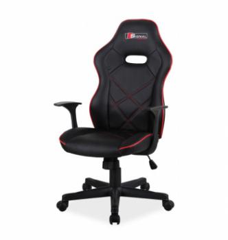 Кресло геймерское Signal Boxter Черный (PU Черный/Красный) фото-1