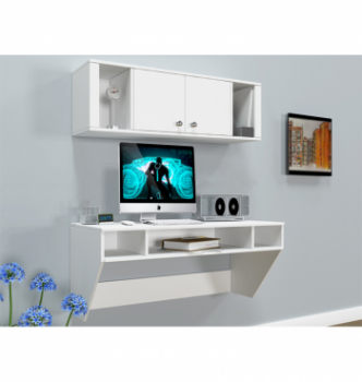 Стол навесной Comfy-Home AirTable-II Kit WT 110x50 Белый (Белый) фото-2