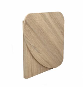 Стол для ноутбука Comfy-Home Skat 77x77 Бежевый (Сонома) фото-3