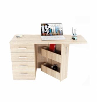 Стол компьютерный Comfy-Home Caliban 62(110)x50 Белый (Белый) фото-4