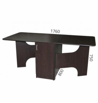 Стол книжка NIKA Мебель КМС-6 43(176)x80 Черный (Дуб Венге) фото-4