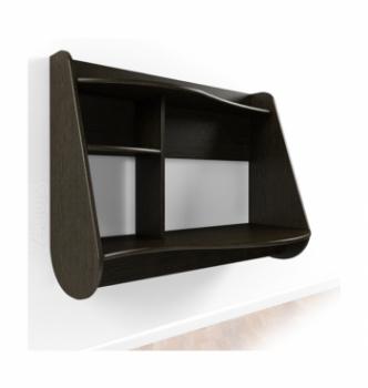 Стол навесной Comfy-Home AirTable Drop 100x50 Коричневый (Венге магия) фото-1