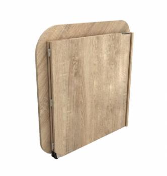Стол для ноутбука Comfy-Home Skat 77x77 Бежевый (Сонома) фото-4