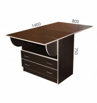 Стол книжка NIKA Мебель КМС-3 48(140)x80 Черный (Дуб Венге) фото-5