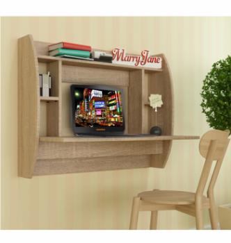 Стол навесной Comfy-Home AirTable-Eco 92x49 Бежевый (Сонома) фото-3